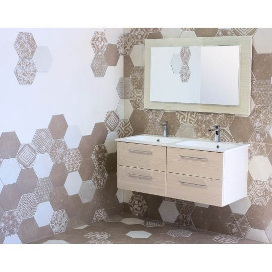 23x26 HEXAGONE IVORY